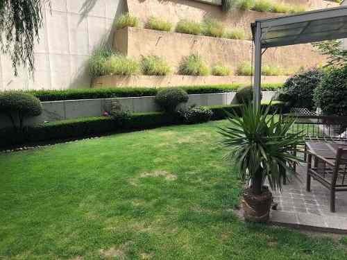 Espectacular Departamento Con Jardin En Bosque De Las Lomas