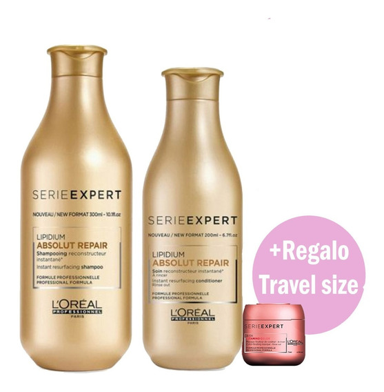 Kit Loreal Absolut Repair 300ml+1 Travel Size Pelo