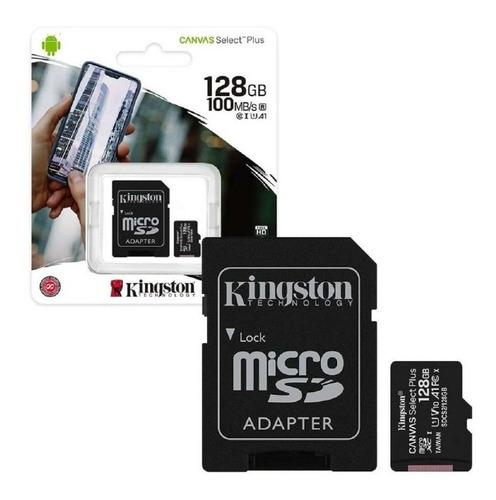Memoria Micro Sd Kingston 128gb 100mb/s Clase 10 Canvas Plus