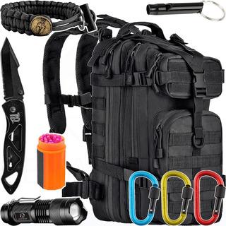 Kit Camping Mochila Tática Assault 30l Invictus + Acessórios