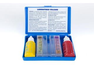 Test Kit Cloro Y Ph Para Piscinas Vulcano