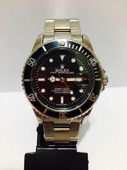 Relógio Em Aço Sub Silver Black