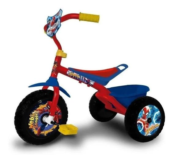 Triciclo Infantil Spider Man Canasto Nenes Hombre Araña