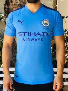 Camisa Manchester City Puma Home Azul Versão Jogador Sterlin