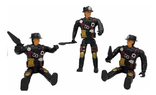 Juguete Muñeco Figura Articulada Bombero + Accesorio Niños