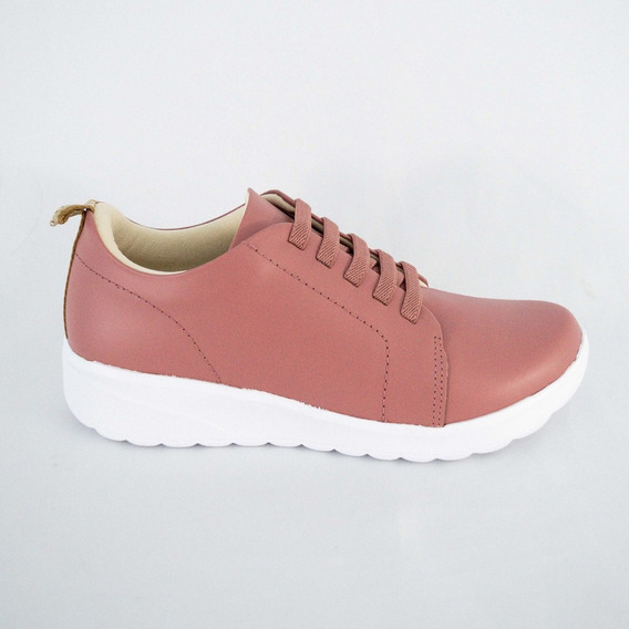 Tênis Usaflex Ab7307 Soft Slim Old Pink Islen Calçados
