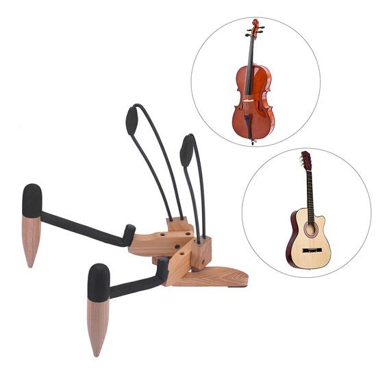 Hardwood Dobrável Folding Musical Instrument Stand Holder