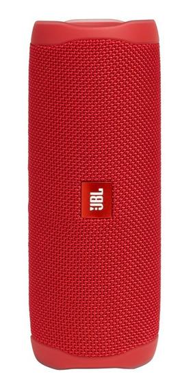 Caixa De Som Jbl Flip 5 Red, Bluetooth, 20w - À Prova D´água