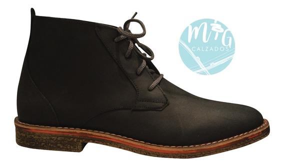 Botas Zapatos Borceguís Hombre Gamuzón Genuino Art 203 Nueva