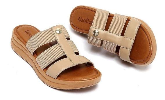 Sandálias Femininas Lançamento Casual Usaflex Ab7003 Top