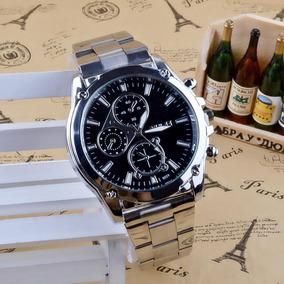 Relógio Masculino Luxo Pulseira Inox Barato Promoção