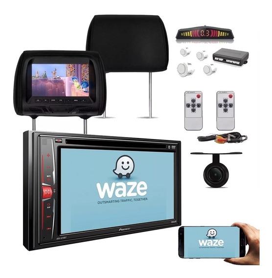 Central Multimidia Dvd Pioneer 2 Din + Encosto + Sensor +cam