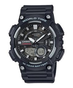 Relógio Casio Masc Aeq-110w-1av Original Usa C/ Nfe