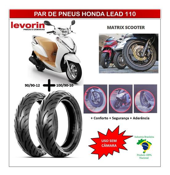 Pneu 90/90-12 E Pneu 100/90-10 Honda Lead 110 Matrix