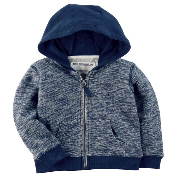 Cardigan - French Terry Hoodie Navy - Carters