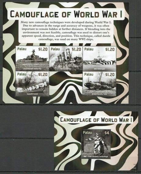 2015 Primera Guerra Mundial- Camuflaje- Palaos - Mnh