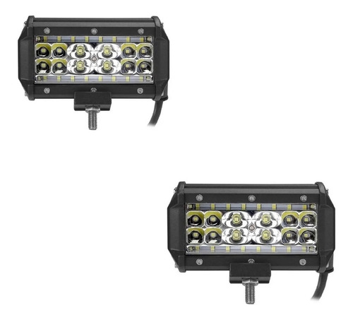 Par Faro Led Camioneta Jeep  Utv Moto Off Road 84w 28 Led