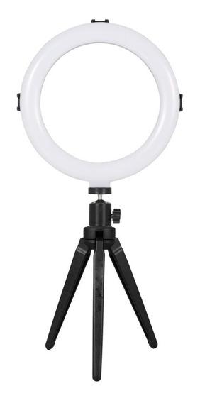 Mini Ring Light Iluminação Profissional Luz Led Selfie Tripé
