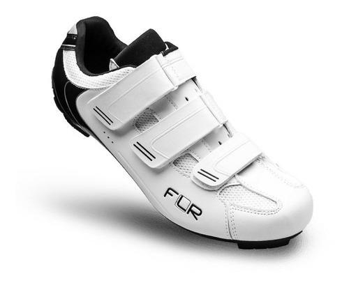 Zapatillas Ciclismo Ruta Flr F35 Blanco