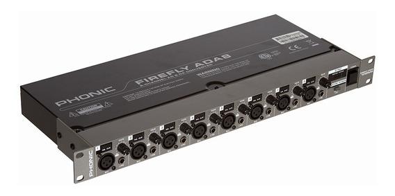 Pré Amplificador Phonic Extensor Adat Ada 8 Firefly
