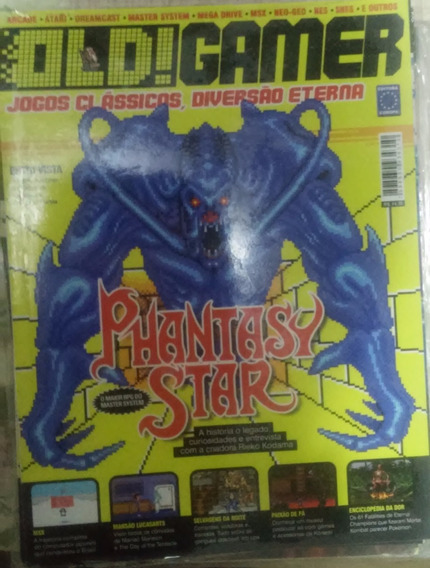 Revista Lacrada Old Gamer Nº 2 Phantasy Star + Pôster Enduro