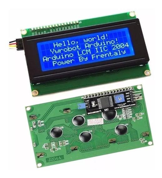 Display Lcd 20x4 + Módulo I2c Serial 2004 Arduino Esp Raspi