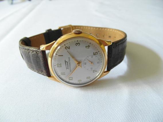 Relógio Pulso Tissot Antimagnetique Corda 18k Pulseira Couro