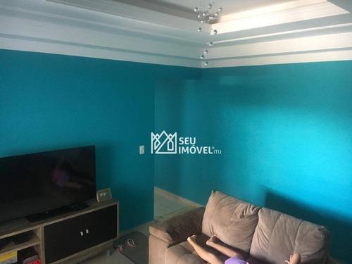 Casa Com 2 Dormitórios À Venda, 81 M² Por R$ 350.000 - Residencial Porto Seguro - Salto/sp - Ca2196