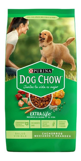 Purina Dog Chow 21kg Cachorros Razas Medianas Y Grandes