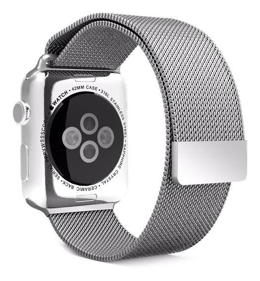 Pulseira Milanese Para Apple Watch 38/40mm - Prata