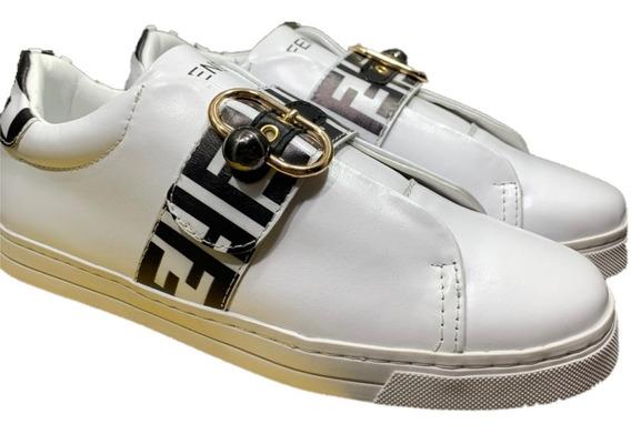 Tenis Sneakers Fendi Dama Black, Envío Gratis