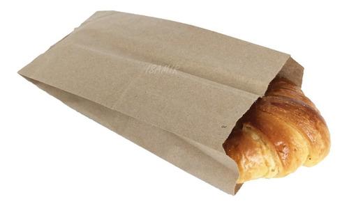 Bolsas No.3 Papel Estraza 12.5x26.5cm 100pzs Comida Empaque