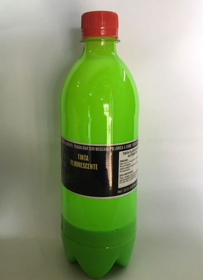 Tinta Fluorescente - Poliéster Automotiva -verde Limão 250ml