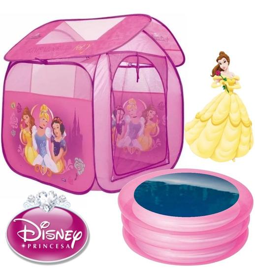 Barraca Toca Casa Infantil Princesas + Piscina 80 Litros