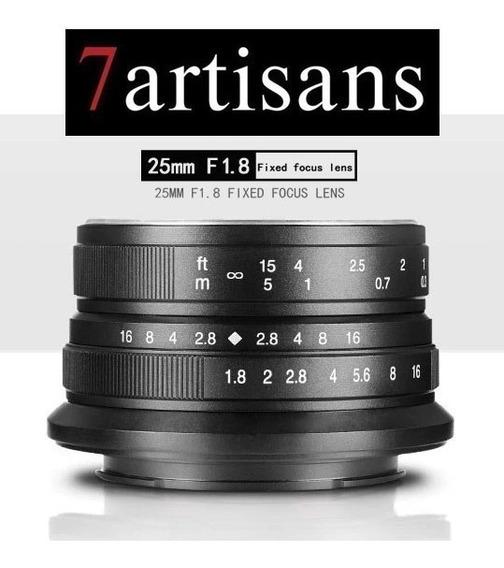 Lente 7 Artisans 25mm F1.8 E-mount 6000 6300 6500 A7s 6300