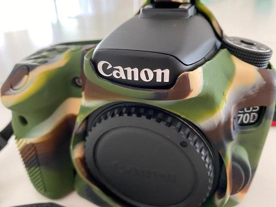Camera Fotografica Canon Eos 70 D ( Filmadora) Kit Completo