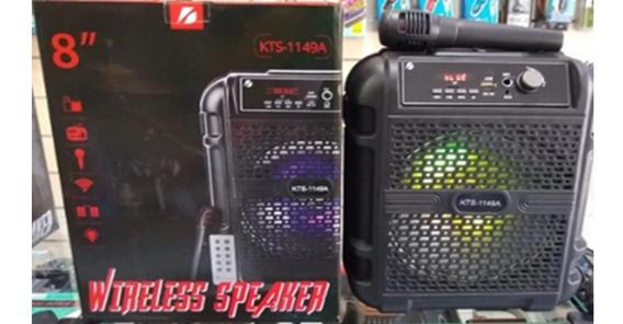 Caixa De Som Kts 1149-a Sem Fio Que Pega Microfone
