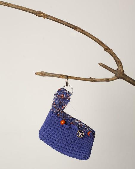 Monedero Tejido Al Crochet Paz Violeta
