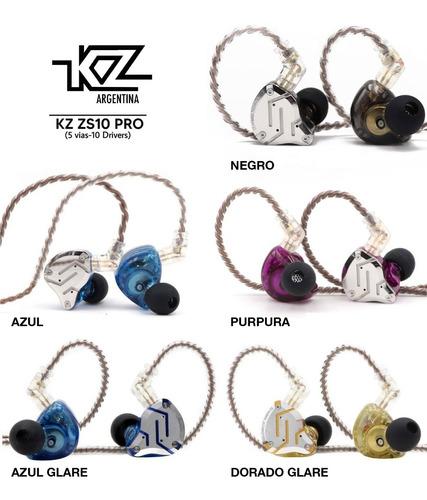 Imagen 1 de 6 de Auriculares In Ear Kz Zs10 Pro Monitoreo 5 Vias + Cuotas Representante Oficial Kz