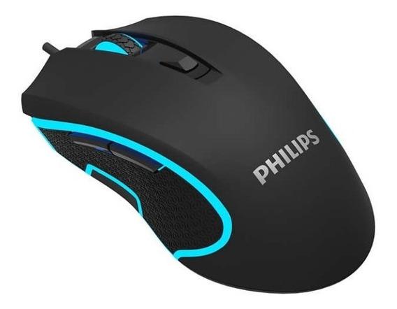 Mouse Philips Para Games Spk9413 Usb 2.0 6400 Dpi