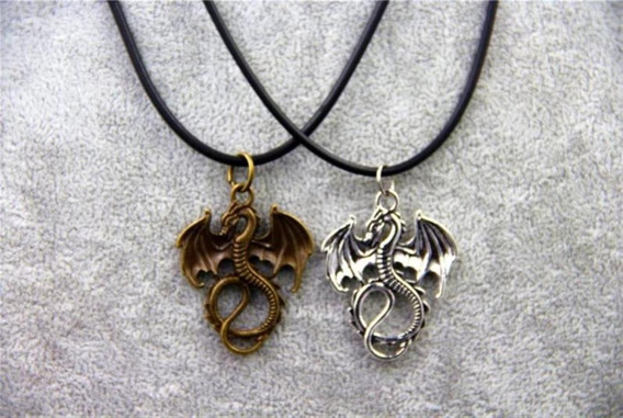 Colar Amuleto Dragões Frete Grátis