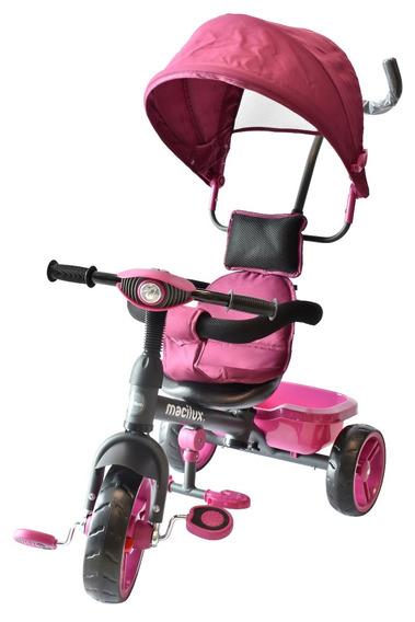 Triciclo Montable Para Bebe Niñas Color Uva - Macilux Nuevo
