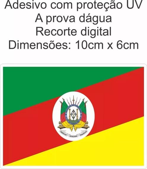 Adesivo Bandeira Estado Rio Grande Do Sul 5 Unidades