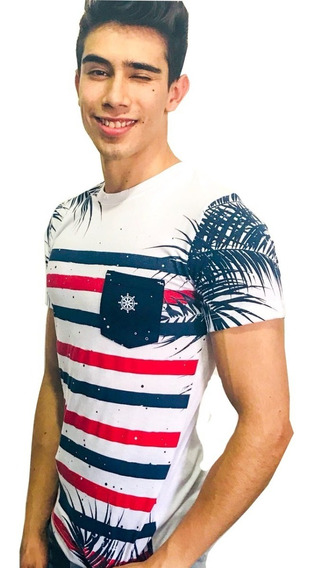 Playera Cuello Redondo Blanca - Peaceful