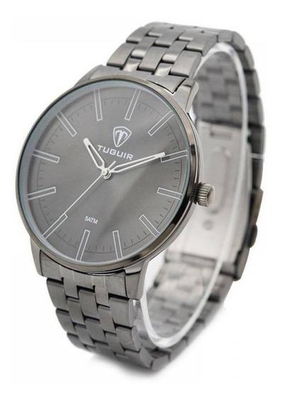Relógio Tuguir Chumbo Primium