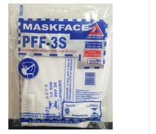 10 Mascaras Proteção Pff3 Hospitalar N95 C/ Valvula