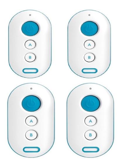 04 Controle Para Alarme E Portão Intelbras Xac 4000 Azul