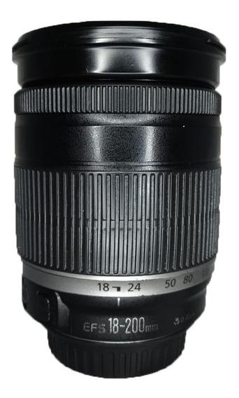 Lente Canon Lens Efs 18-200mm Ótimo Estado Conservada
