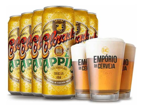 Kit 6 Colorado Appia 410ml + 3 Copo Empório Da Cerveja 350ml