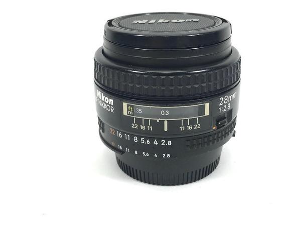 Lente Nikon Af 28mm F 2.8 Para Camera Nikon Full Frame §